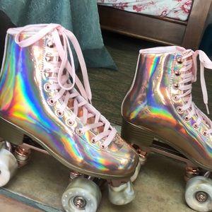 Impala rose gold roller skates sz 7
